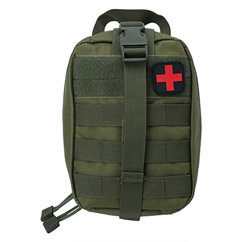 First Aid Kit Empty Bag Medical Emergency Pouch for Outdoor Climbing Hiking Camping Home Office ( Color : Green )