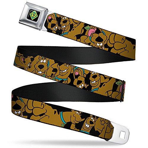 Buckle-Down Seatbelt Belt - Scooby Doo Stacked C/U Black - 1.0