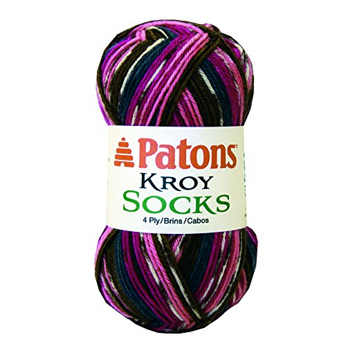 Patons  Kroy Socks Yarn - (1) Super Fine Gauge  - 1.75 oz -  Mulberry  -   For Crochet, Knitting & Crafting Baby Wool 4 Ply