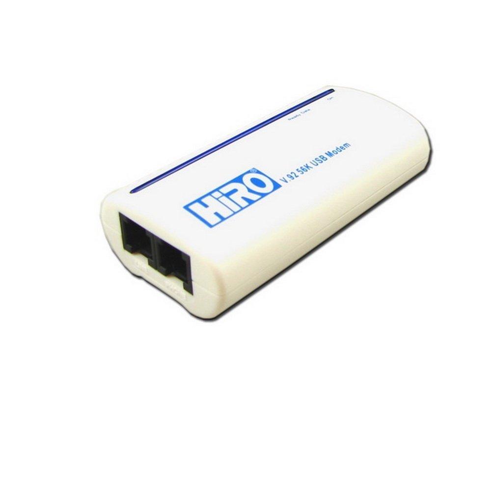 HiRO H50113 V92 56K External USB Data Fax Dial Up Internet Modem Windows 10 8.1 8 7 Vista XP 32-bit 64-bit