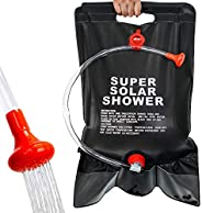 camperig Shower Bag for Camping 5 Gallon/20L Solar Portable Shower Bag with on/Off Switch Hose and Shower Head