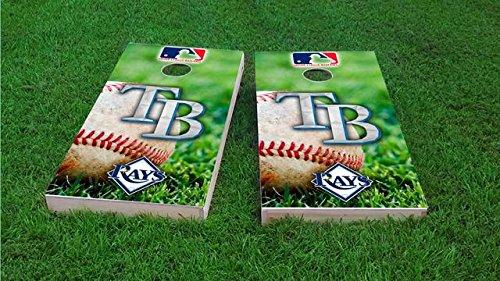 Tampa Bay Baseball Cornhole Board Set - ACA Regulation Sized - Includes 8 All Weather ()