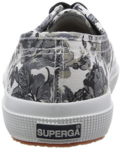 Superga - Zapatillas de deporte de lona para mujer Tapestry Black-White