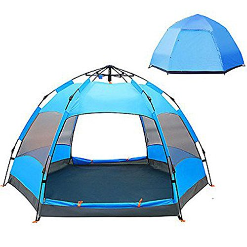 WJJH Family 5-7 Person Tent Double Camping Tent Outdoor Automatic Tent Moistureproof/Moisture Permeability Waterproof Rain-Proof