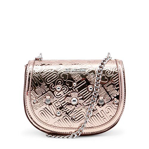 pochette Petite rose femme bandoulière Moschino gold Love Twdxgwq