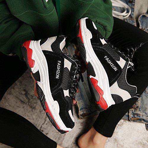 Mujer Zapatos NGRDX Mujer Plataforma Black Estudiante Para Zapatillas Zapatos Zapatillas De Chica Mujer Plus 40 Lona amp;G Casual qnY4YtrOUx