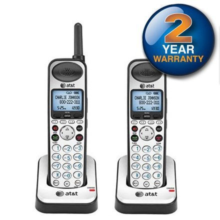 Dect 6.0 Expansion Handset - AT&T SB67108 Cordless Telephone Expansion Handset DECT 6.0 1.9Ghz (2-Pack)