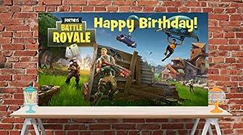 Amazon.com: Fortnite - Pancarta de vinilo para cumpleaños ...