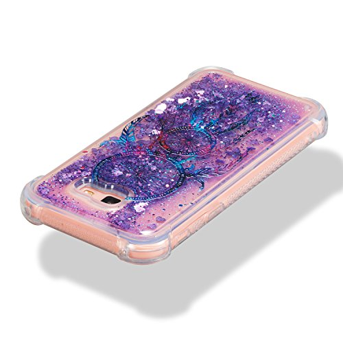 Samsung A7 2017 Funda Líquido Arenas Movedizas Cáscara Samsung Galaxy A7 2017, Alfort Casco de Protección TPU Diseño de Moda Cover Cristal Transparente Samsung Galaxy A7 2017 ( Torre ) Campanula
