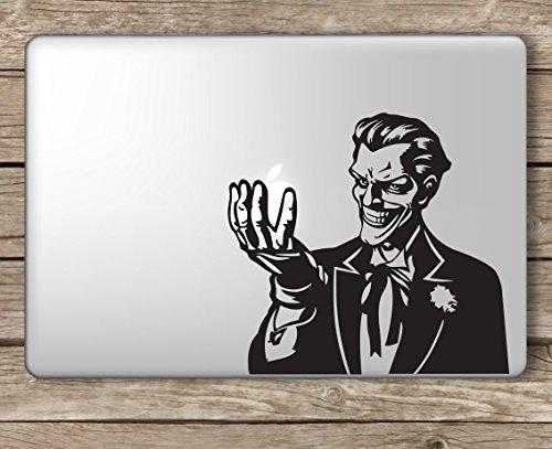 Joker Holding Apple Batman - Apple Macbook Laptop Vinyl Sticker Decal