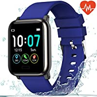L8star Fitness Tracker Heart Rate Monitor-1.3'' Large Color Screen IP67 Waterproof Activity Tracker with 6 Sports...