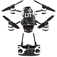 Skin for DJI Spark Mini Drone Combo - Lit| MightySkins Protective, Durable, and Unique Vinyl Decal wrap cover | Easy To Apply, Remove, and Change Styles | Made in the USA