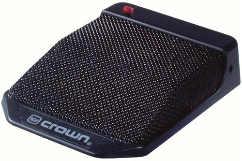 Crown Supercardioid Mic - Crown PCC-170 Surface Mounted Boundary Microphone Black with 15 ft. Cable XLR Type Output