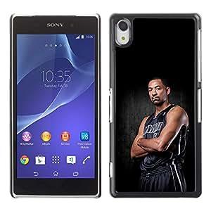 Miami 5 Basketball Caja protectora de pl¨¢stico duro Dise?ado King Case For Sony Xperia Z2