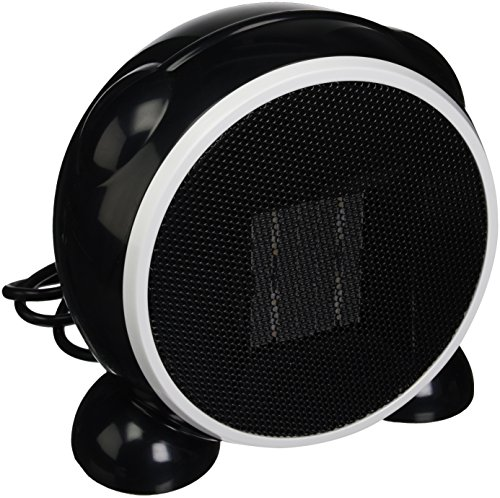 e-joy Ceramic Portable Personal Electric Space Heater, 500W, Black Ceramic Heaters