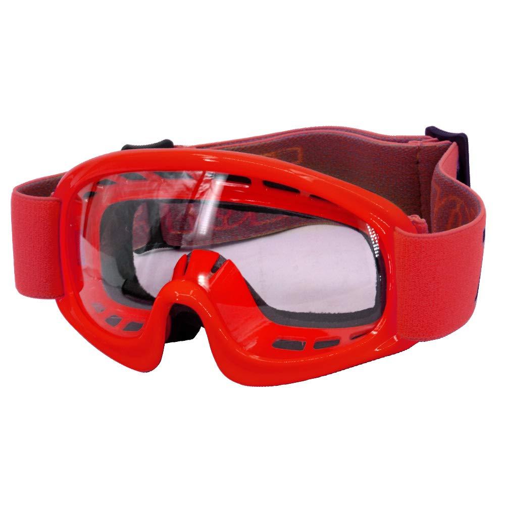 Zorax Black Adult Motorbike Motorcycle Motocross MX Goggles Off Road Adjustable Non Slip Strap