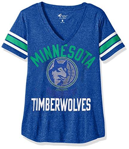 - GIII For Her NBA Minnesota Timberwolves Women's The Big Game Tee, X-Large, Royal