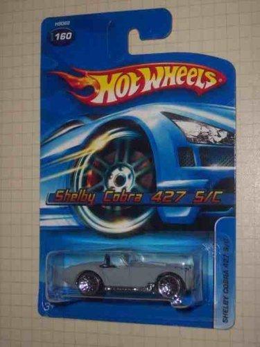 #2005-160 Shelby Cobra 427 S/C Flat Gray Black Interior K-Mart Exclusive Collectible Collector Car Mattel Hot Wheels ()