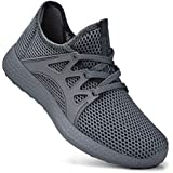 Simasoo Womens Breathable Shoes Mesh Knit Casual Running Gym Basketball Shoes Grey/Grey Size 12