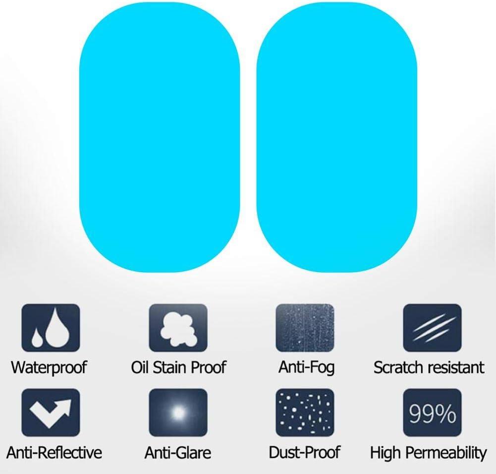 Akaddy 2X Auto Seitenspiegel wasserdichte Anti-Fog Regenschutzfolie 100x150mm