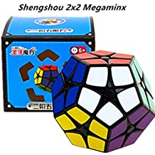 Kingcube ShengShou 2x2 Megaminx Black Magic cube SS Megaminx 2x2 Black Speed cube