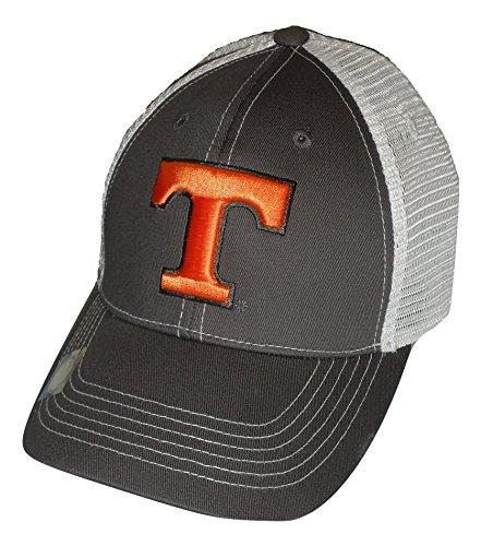 Tennessee Volunteers Adjustable Gray Cap Mesh Back Hat -