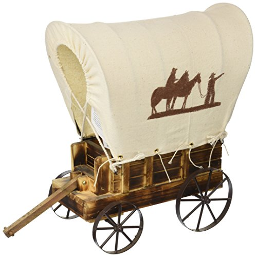 - Koehler Home Decorative Western Wooden Wagon Table Charming Prairie Figurine Lamp