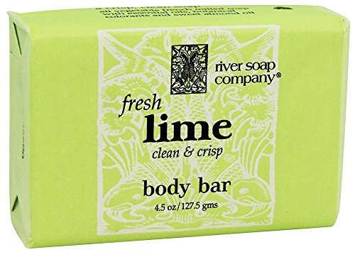 River Soap Company Bar Soap, Fresh Lime, 4.5 Ounce - Lime Soap Bar