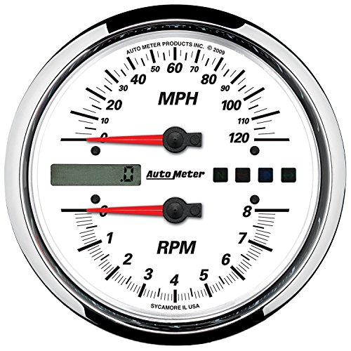 Auto Meter 19467 Pro-Cycle Tach/Speedo Kit 4-1/2 in. Whit...