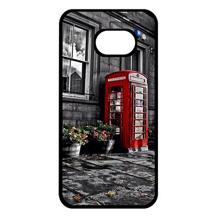 Unique Samsung Galaxy S7 Hard Back Case Cover, Red Telephone Booth Print Samsung S7 Protective Phone Cases For Girls