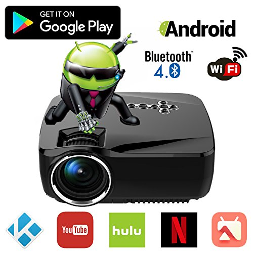 Projector with bluetooth android wifi bluetooth projector for Bluetooth handheld projector
