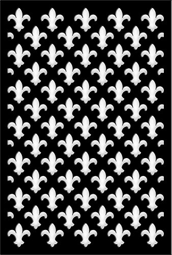 Acurio 4832ID-2-BK-FDL Lattice Fleur de Lis Panel Screen ...