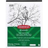 Derwent Academy Sketch Pad, Medium Weight Paper, 50 Sheets, 9'' x 12'' (54970)