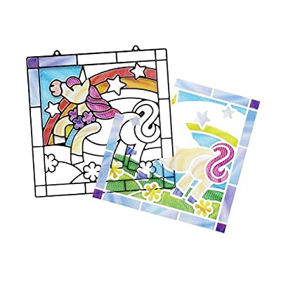 Melissa & Doug Stained Glass Made Easy Activity Kit, Arts and Crafts, Develops Problem Solving Skills, Unicorn, 70+ Stickers, Great Gift for Girls and Boys - Best for 4, 5, 6 Year Olds and Up: Toy: Toys & Games
