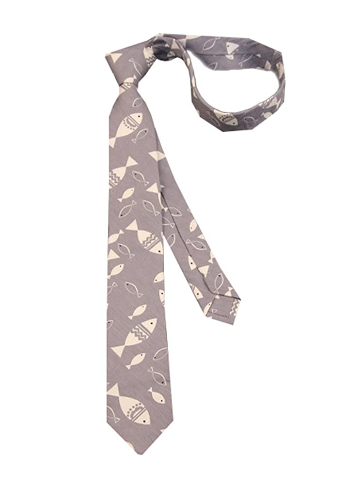 Lovely Item Boys Skinny Cotton Casual Floral Animal Pattern Printed Neck Tie