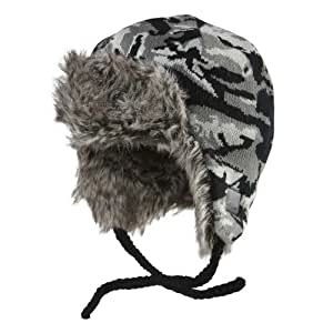 Chaos Boy's Gaga Trapper Hat, Grey, One Size