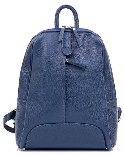 Rucksac Grab à marque sacs italiennes sac dos Sac de à de à main ® rangement en protection de Marine incudes sac Primo bandoulière Sacchi Mesdames texturé cuir SqPvvO