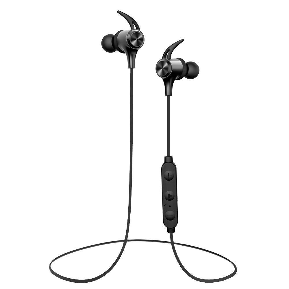 LoKeDa Bluetoothヘッドフォン IPX5 防水ワイヤレススポーツイヤホン Bluetooth 4.1ステレオインイヤーイヤホン CVC6.0ノイズキャンセリングマイクロ7時間ヘッドセット付き トレーニング ランニング ジム用   B07S167H21