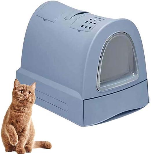 FXQIN Caja de Arena para Gatos Cubierta, Inodoro para Mascotas con ...