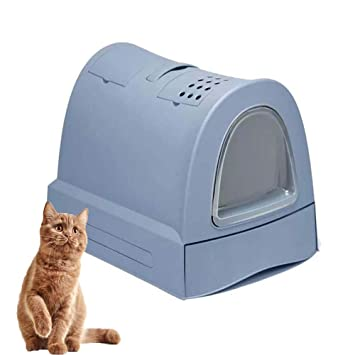 FXQIN Caja de Arena para Gatos Cubierta, Inodoro para ...
