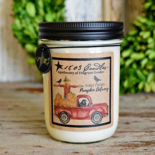Cream Soy Candle (1803 Candles - 14 oz. Jar Soy Candles - (Pumpkin Delivery))
