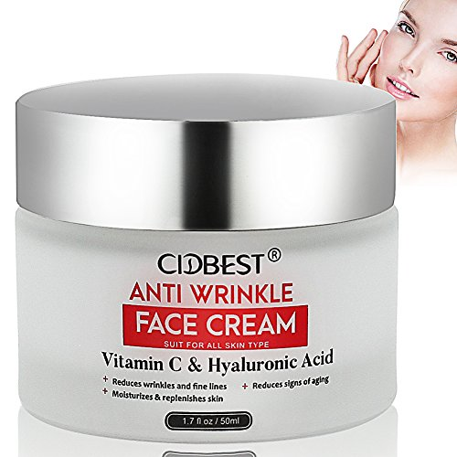 Anti Aging Cream, Anti Wrinkle Cream, Face Cream with Vitamin C & Hyaluronic Acid, Moisturizing Cream for Dry Skin and Nature skin, Moisturizer For Face & Neck