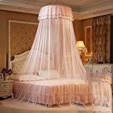 Court Dome Ceiling Mosquito Net/Princess Wind Fine Mosquito Net/Children's Single Door,Encrypted Thickening Naked Simple Mosquito Net-E C