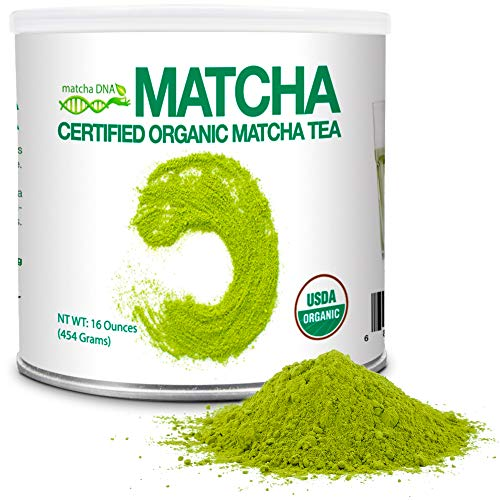 MatchaDNA 1 LB Certified Organic Matcha Green Tea Powder (16 OZ TIN CAN)