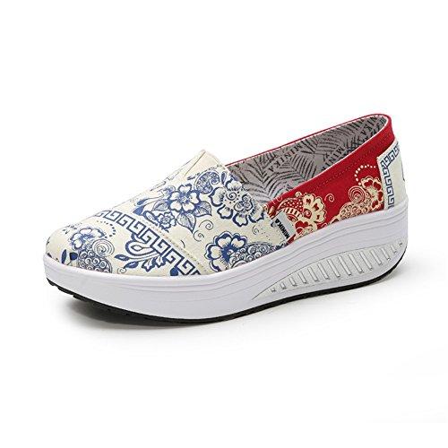 lona Shoes de mujer señoras Segundo plano On Zapatos Zapatos la Altura las de de nueva de tacón de Zapatos Lazy SHINIK sacudida Slip CAXw7qX