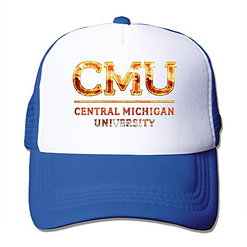 XSSYZ Central Michigan University Seal Trucker Hat Mesh Cap RoyalBlue