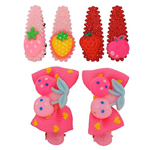 Maayra Kids Tic Tac Hair Clips Assorted in Multicolour for Dailywear Pack of 6