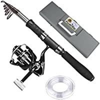 PLUSINNO Telescopic Fishing Rod and Reel Combos with...