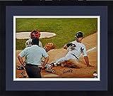 Framed Don Mattingly Autographed Photo - 16x20 DAMAGED - Witness - JSA Certified - Autographed MLB Photos