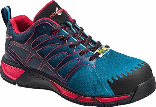 Nautilus Heren N2423 Composiet Teen Adv Esd Atletische Werkschoen Blauw / Rood Mesh / Synthetisch